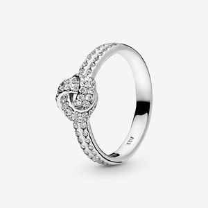 Authentic PANDORA Shimmering Love Knot Ring